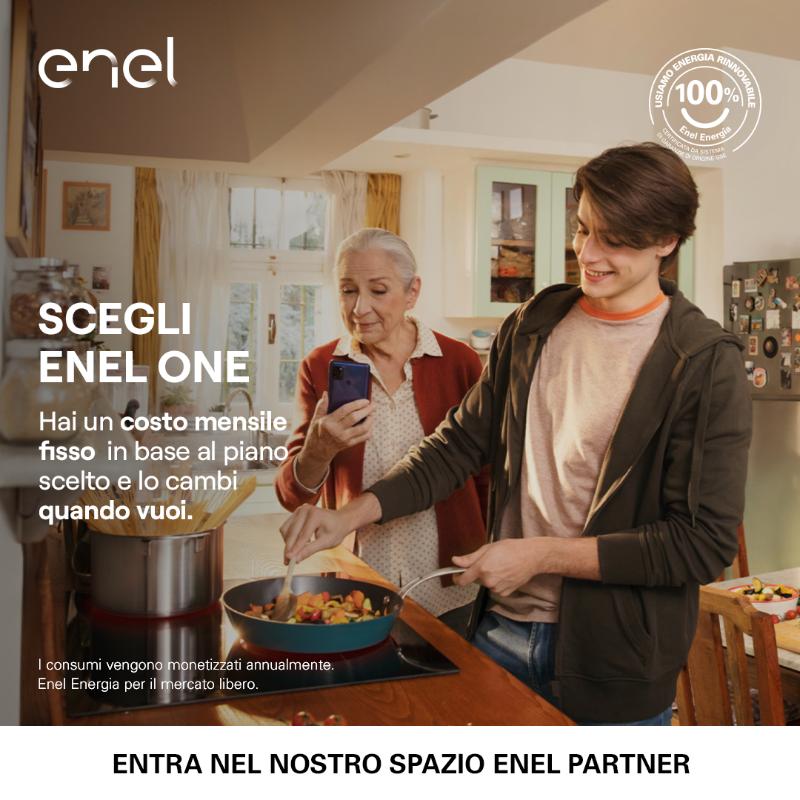 Oggi scegli la certezza di ENEL ONE. Scopri tra i 5 piani quello più adatto alle tue esigenze di consumo. Vieni a trovarci in negozio per saperne di più, ti aspettiamo!