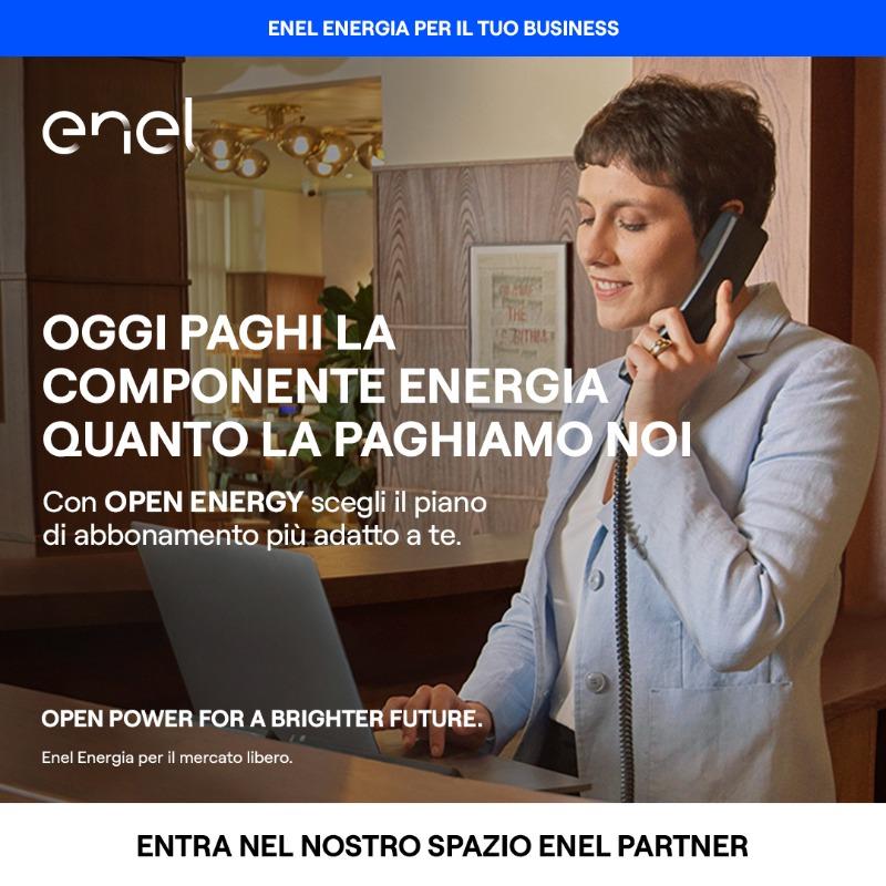 Per la tua azienda scegli OPEN ENERGY e paghi la componente energia quanto la paghiamo noi. Vieni a trovarci nel nostro Spazio Enel Partner per saperne di più. https://www.enel.it/it/imprese/negozi-studi