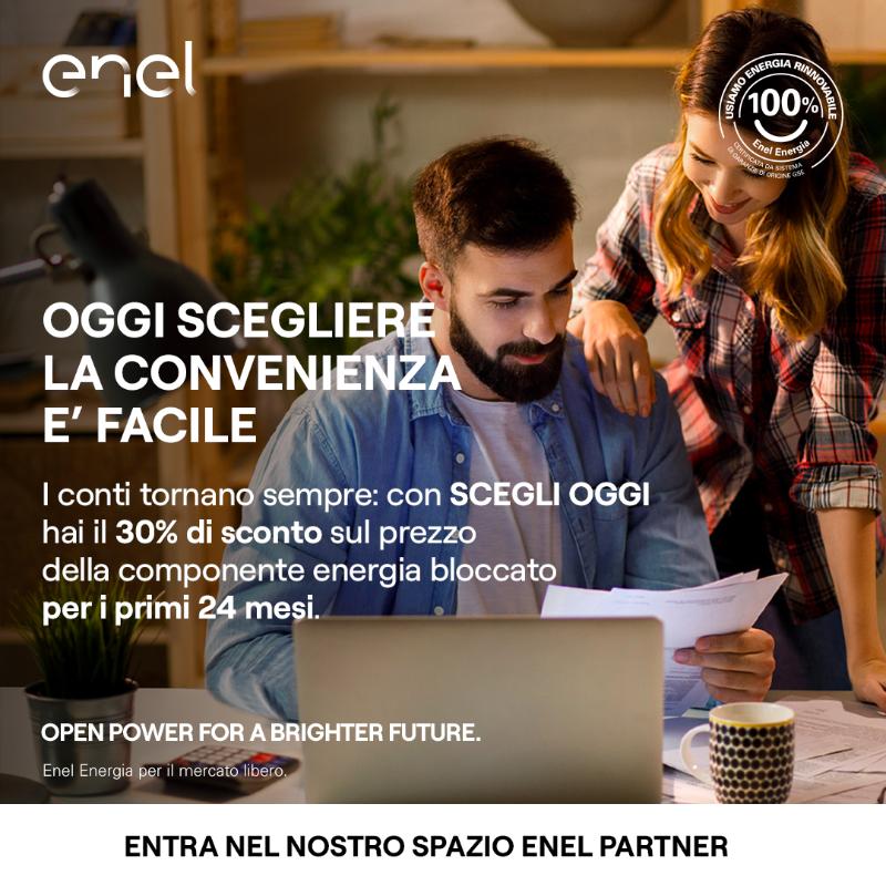 Per te che passi a Enel Energia con SCEGLI OGGI hai il 30% di sconto sul prezzo della componente energia bloccato per i primi 24 mesi di fornitura. E se provieni dal servizio di maggior tutela lo sconto è del 40%. Scopri subito di piu: http://bit.ly/ScegliOggiSEP