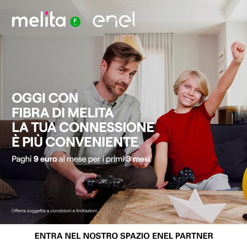 Per i clienti Enel Energia, con Fibra di Melita paghi il canone Fibra 9€ al mese IVA inclusa per i primi tre mesi. Sottoscrivi l'offerta entro il 30/09. Cosa aspetti? https://bit.ly/FIBRAMELITA_EE