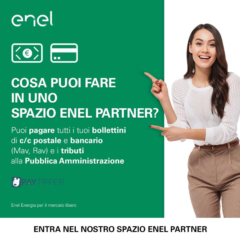 Vieni a trovarci nel nostro Spazio Enel Partner e scopri tutto quello che puoi fare in negozio. Ti aspettiamo!