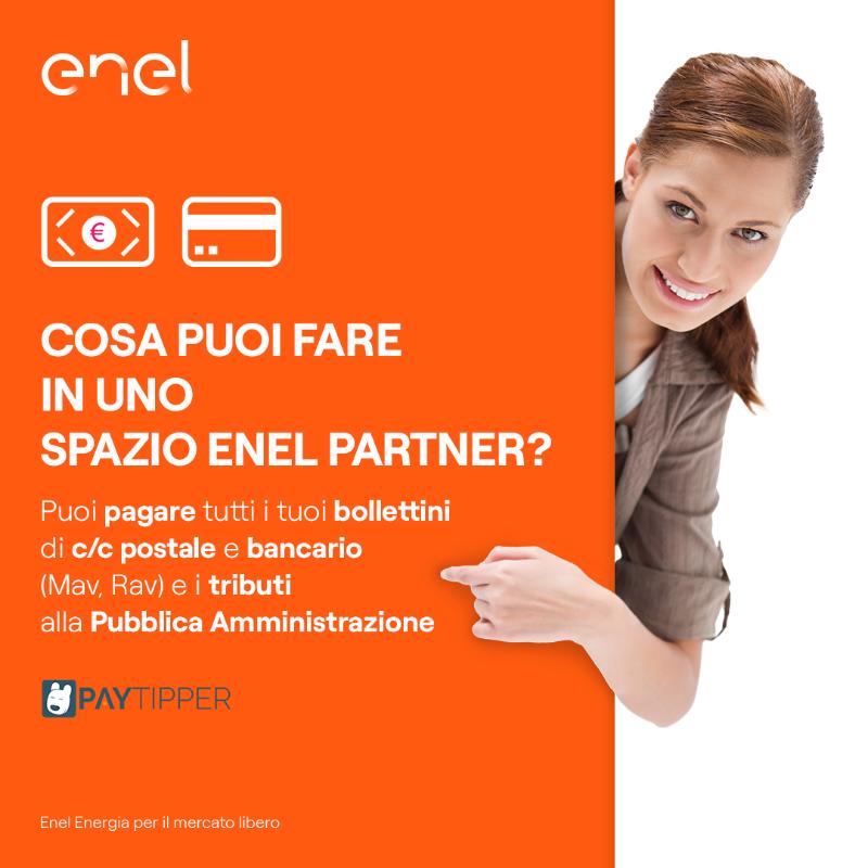 Vieni a trovarci nel nostro Spazio Enel Partner e scopri tutto quello che puoi fare.