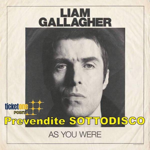 16 Novembre Prevendite Liam Gallagher al Palalottomatica