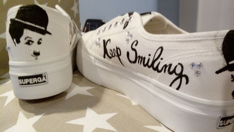 Superga Personalizzate - Charlot Keep Smiling