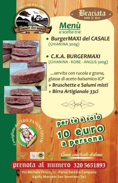 Menu a scelta, BurgerMaxi del Casale o C.K.A Burgermaxi