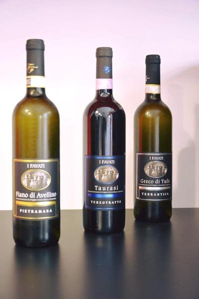 Fiano di Avellino - Taurasi - Greco di Tufo
