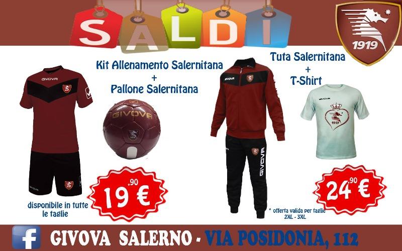 Saldi su prodotti ufficiali Salernitana