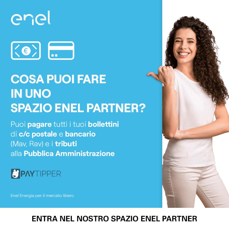 Cosa puoi fare nel nostro Spazio Enel Partner? Vieni a trovarci e scopri tutto quello che puoi fare in negozio. Ti aspettiamo!