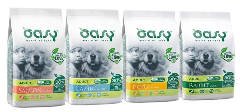 Alimenti Oasy per il tuo cane
