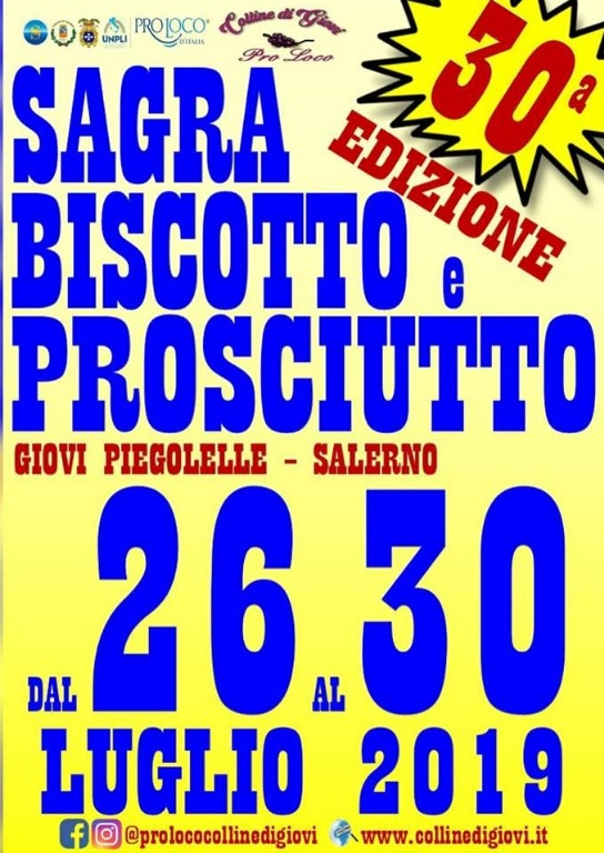 30° edizione della Sagra Biscotto e Prosciutto a Giovi