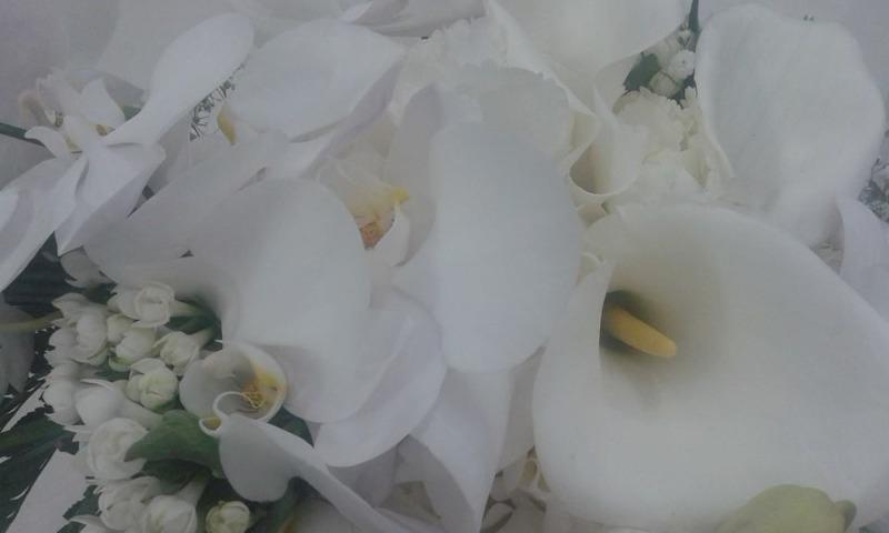 Bouquet Sposa Pendente Phalaenopsis Calle ed Ortensie