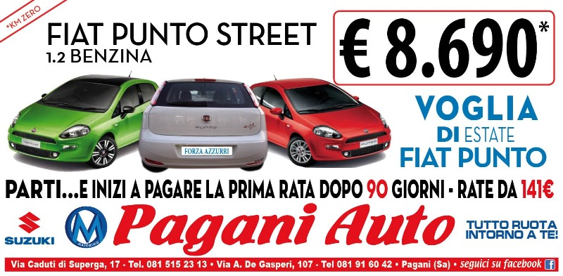 Fiat Punto Street 1.2 Benzina a soli 8690 €