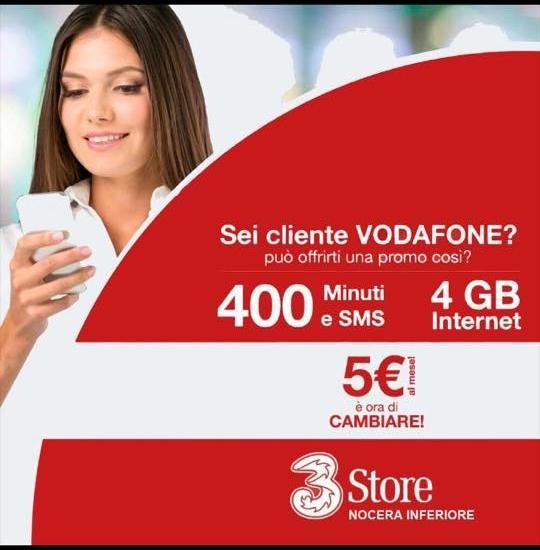 400 Minuti, 400 SMS e 4GB a soli 5€ al mese