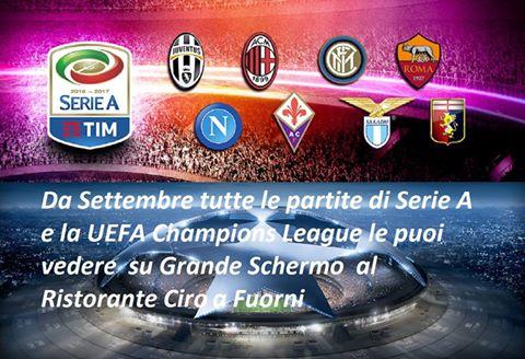 Da settembre diretta TV Serie A e Champions League