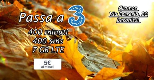 Offertissima 400 minuti 400 sms 7 giga a 5 € al mese