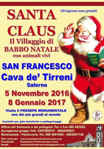 Villaggio Di Babbo Natale Cava Dei Tirreni.Cava De Tirreni Torna Il Villaggio Di Babbo Natale