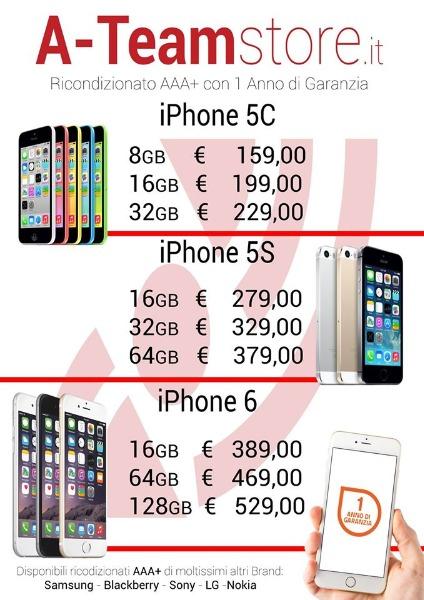 iPhone Ricondizionati (AAA+ - 1 anno di garanzia)