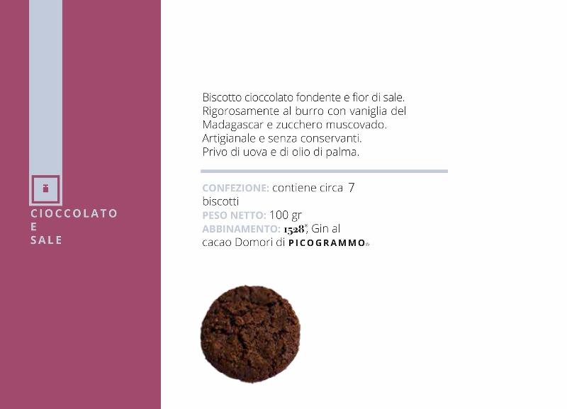 Biscotto Cioccolato e Sale