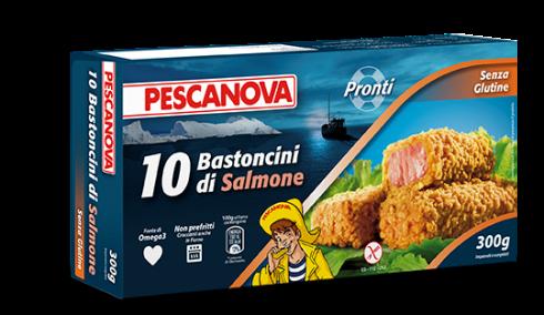 10 bastoncini di salmone