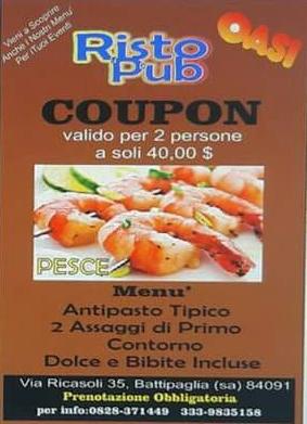 Coupon pesce per 2 persone a soli 40 €