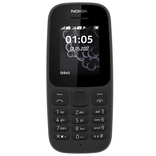 Telefono con tasti Nokia 105 2017 DUAL SIM Nero/Blu/Bianco €29.90