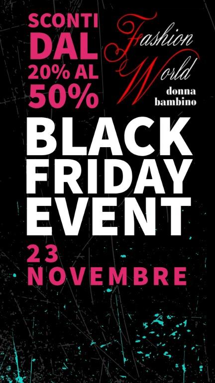 Black Friday! sconti dal 20% al 50%