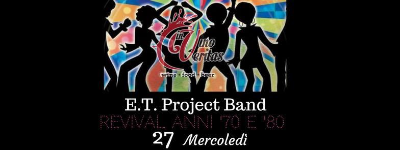 27 settembre E.T. Project band