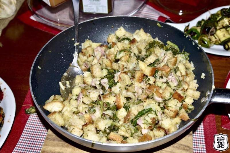 Pancotto con broccoli e salsiccia