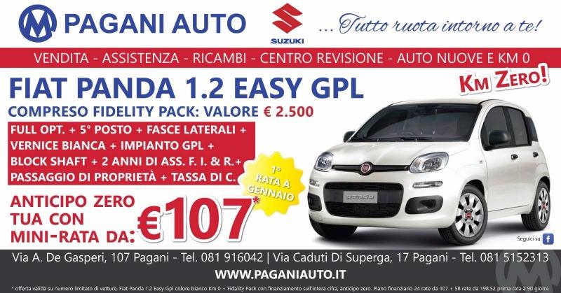 Super offerta Fidelity Pack su Fiat Panda 1.2 Easy Gpl Km zero