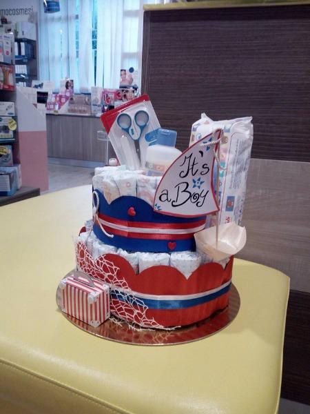 Non sai cosa regalare ai nuovi nascituri???Crea una torta di pannolini fatta con tanta originalità e creatività!