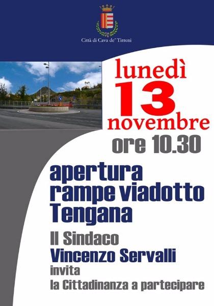Cava de' Tirreni: lunedì 13 l'inaugurazione del nuovo viadotto