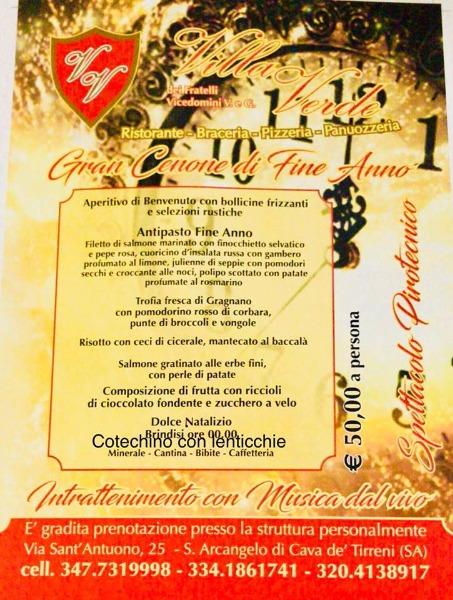 Gran Cenone di Fine Anno con Intrattenimento e Musica dal vivo... 50 € a persona