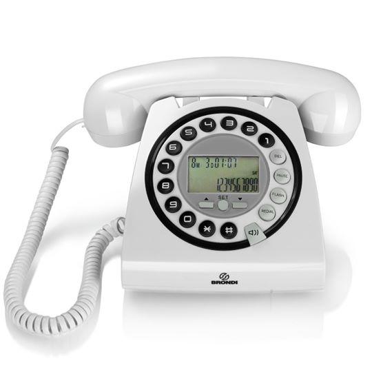 Telefono multifunzione Design retrò Vivavoce ID Chiamante Brondi Hallo 22,90€