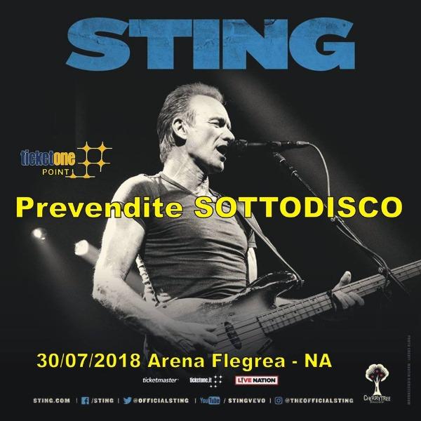 30 LUGLIO Prevendite Sottodisco : Sting + Shaggy @Arena Flegrea Napoli