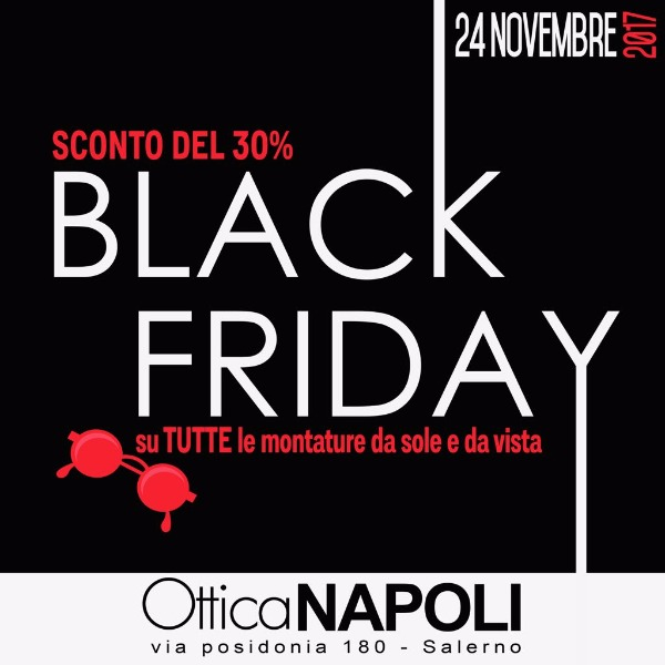 BLACK FRIDAY su tutte le montature da sole e da vista SCONTO DEL 30%