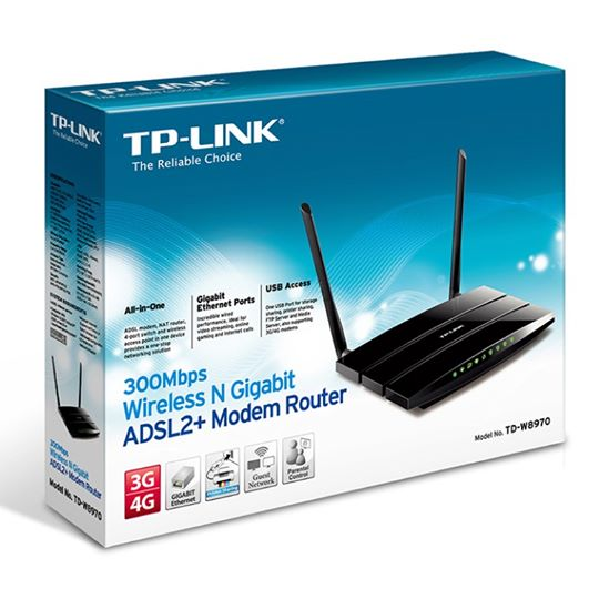 Router Modem ADSL2+ Wireless (N) 300Mbps 3 Lan Gigabit 3 Antenna non Staccabile € 39,90