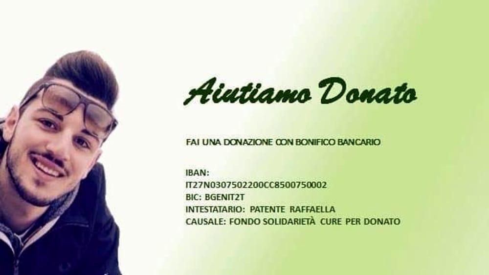 Baronissi: raccolta fondi per aiutare Donato Lambiasi