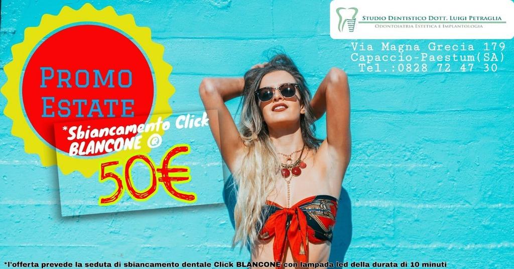 Sbiancamento click BLANCONE a 50€!