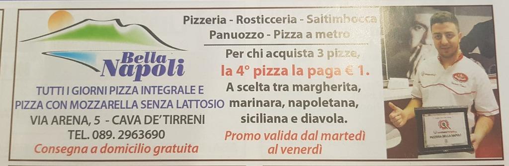 Per chi acquista 3 pizze, la quarta pizza la paga 1 €