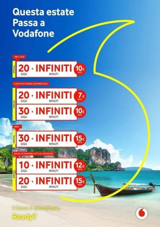 Passa a Vodafone - Estate 2018