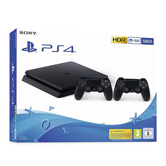 Sony PlayStation 4 PS4 CUH-2216A Slim Nera 500GB + 2 Controller € 299,99