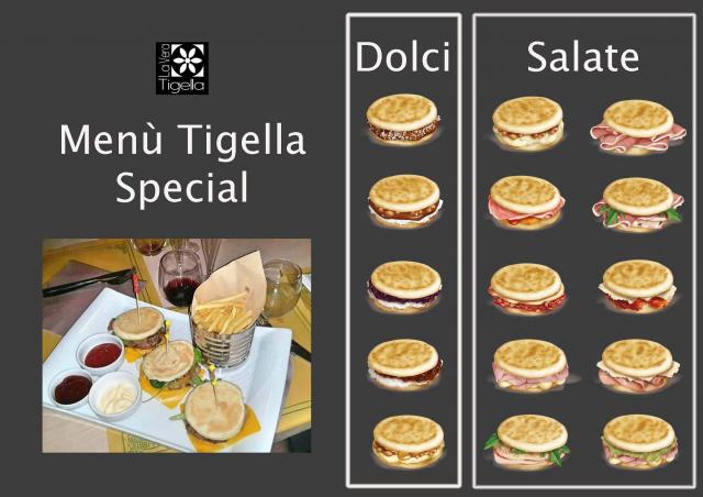 Menu Tigella Special 15 €