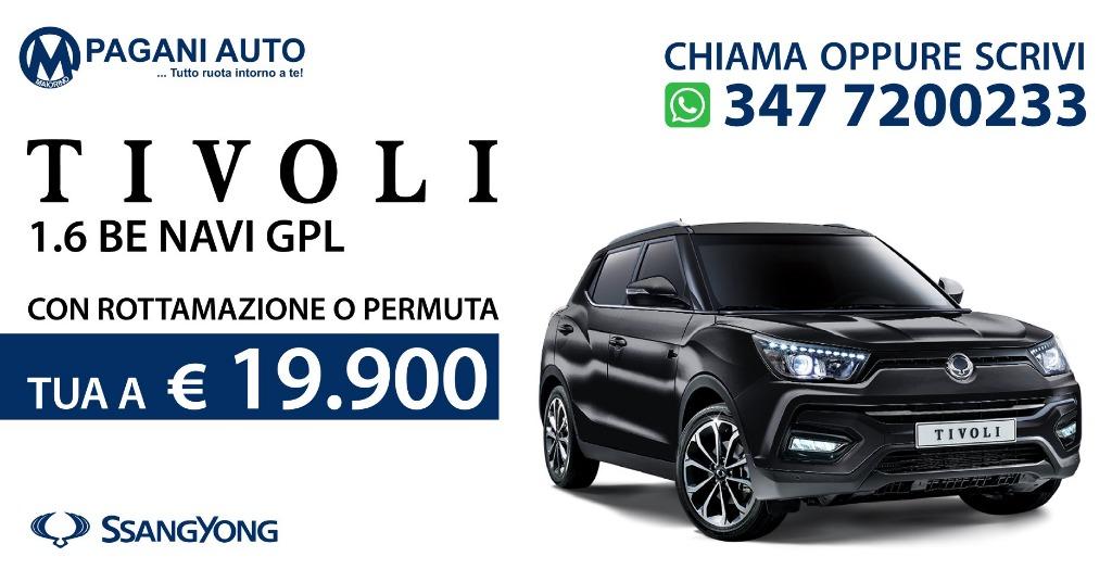 SsangYong Tivoli 1.6 Benz/Gpl 128 cv Versione Be Navi Full Optional