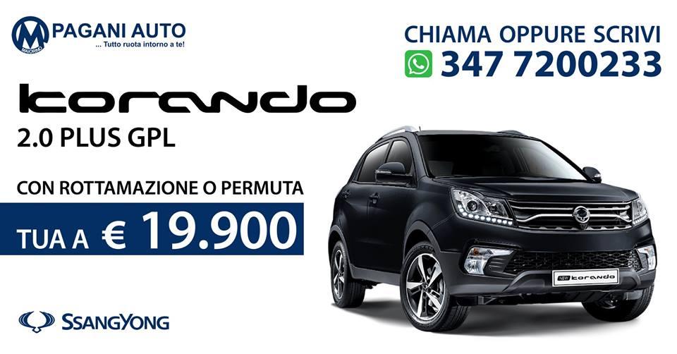 SsangYong Korando 2.0 Benz/Gpl 148 cv Versione Plus