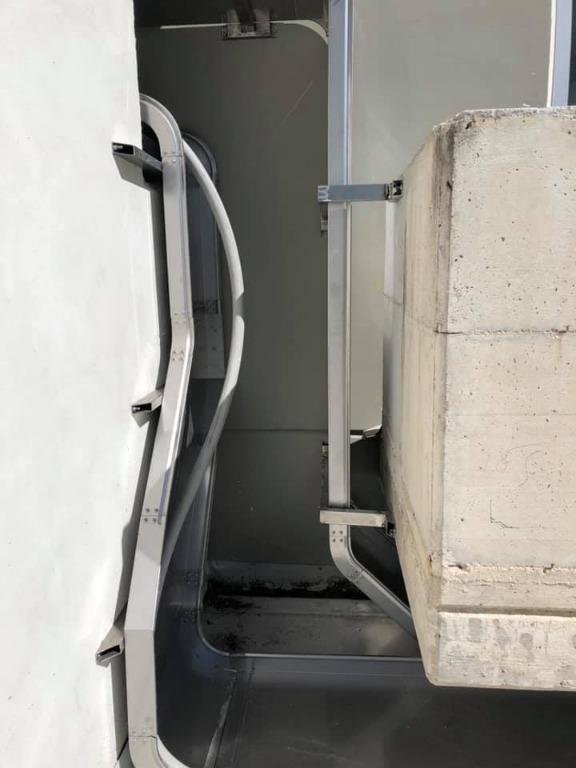 Installazione blindo sbarra in resina cementizia