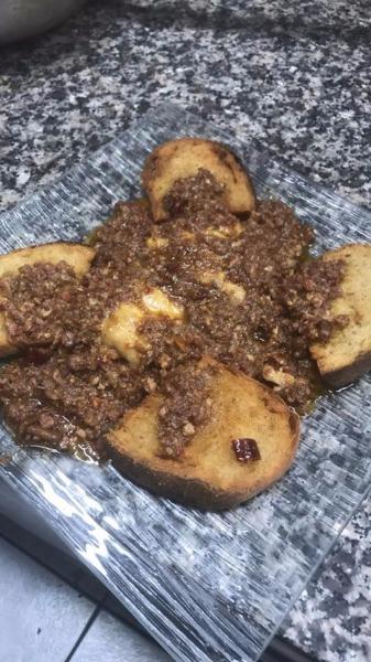 Specialità della casa - Pollo alla messicana con crostini