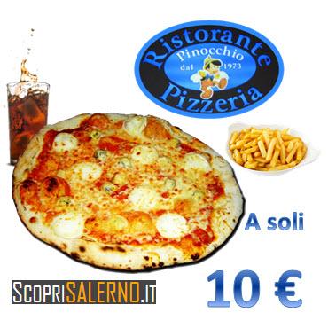 Menù Pizza Patatine e Bibita a 10 €