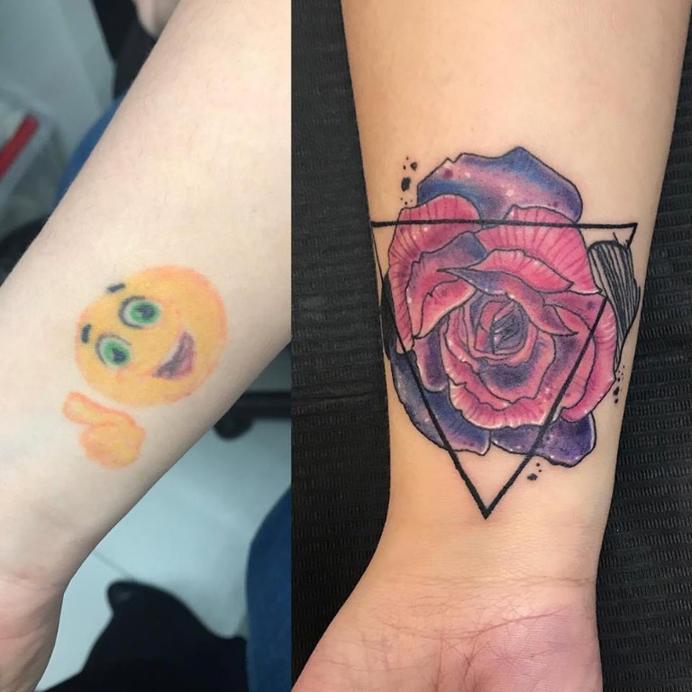 Cover up, prima e dopo!