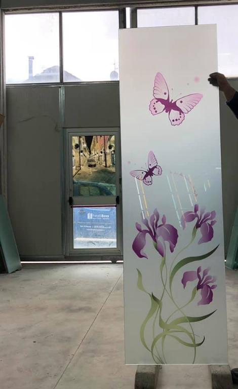Porta temperata 5+5 con decoro in stampa digitale