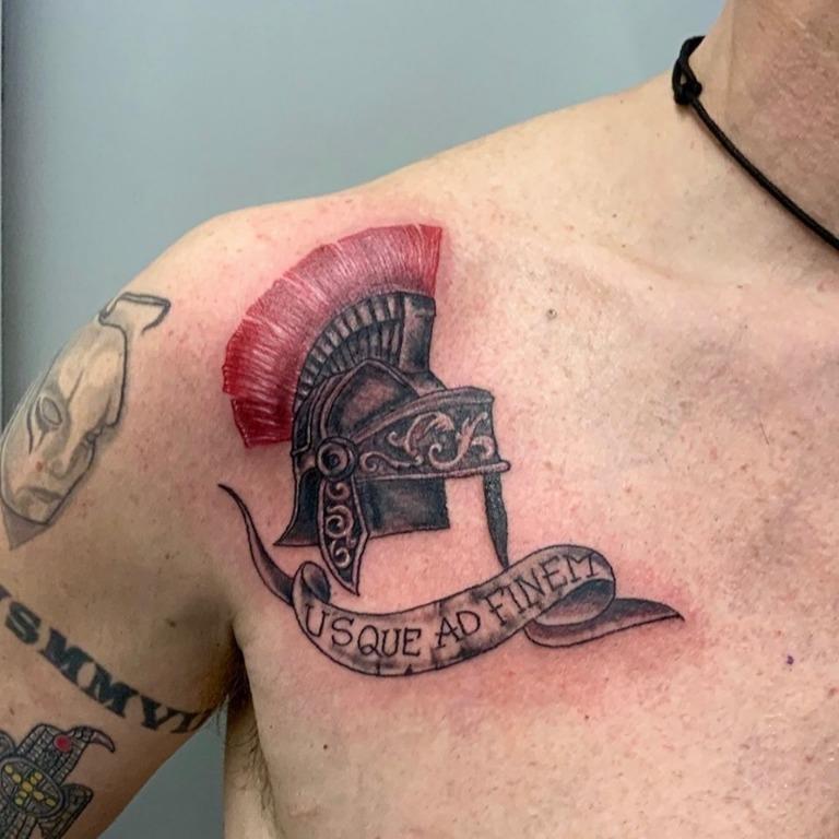 Helmet Tattoo